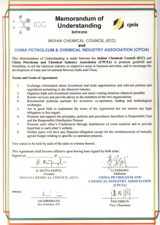 Industry Associations : Indian Chemical Council (ICC)
